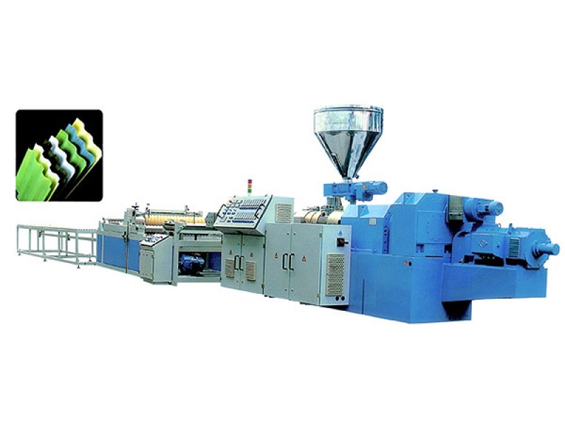 PVC wave/Trapezoidal plate extrusion line